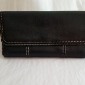 Clarks Wallet leather trifold Black